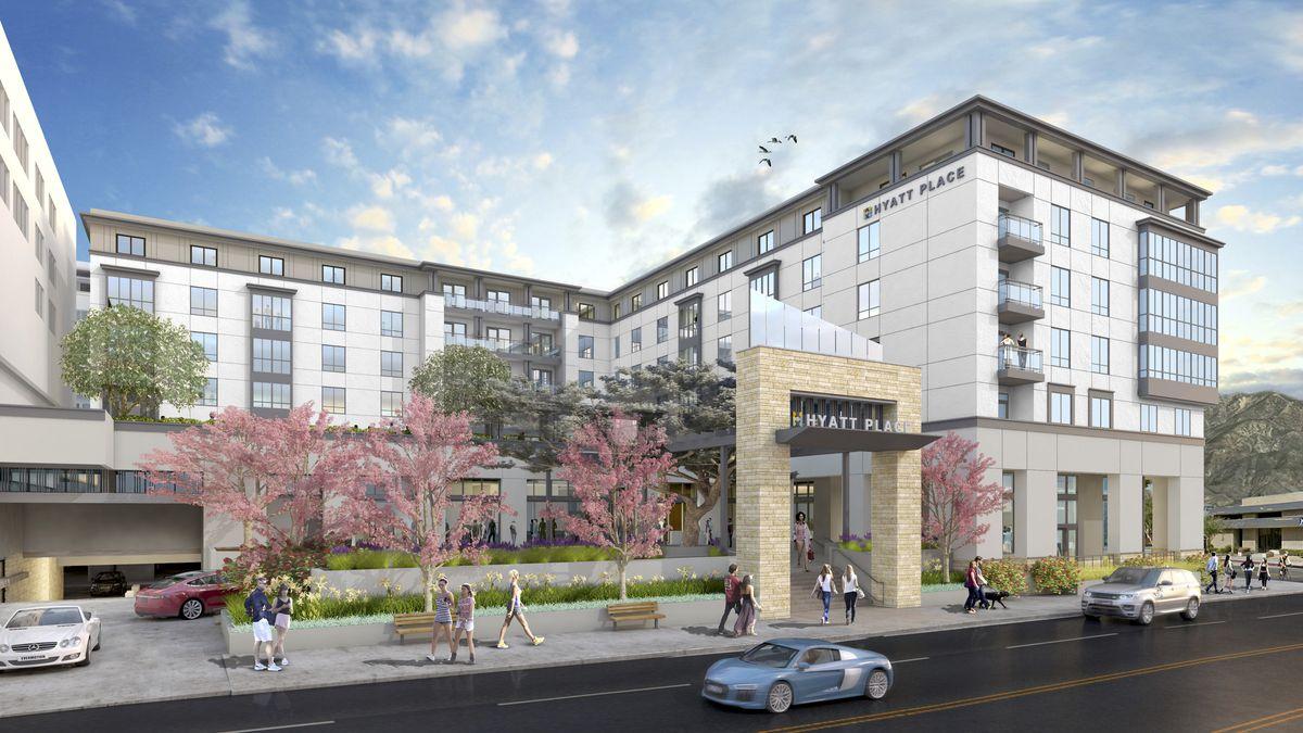 Rendering of Hyatt Pasadena hotel