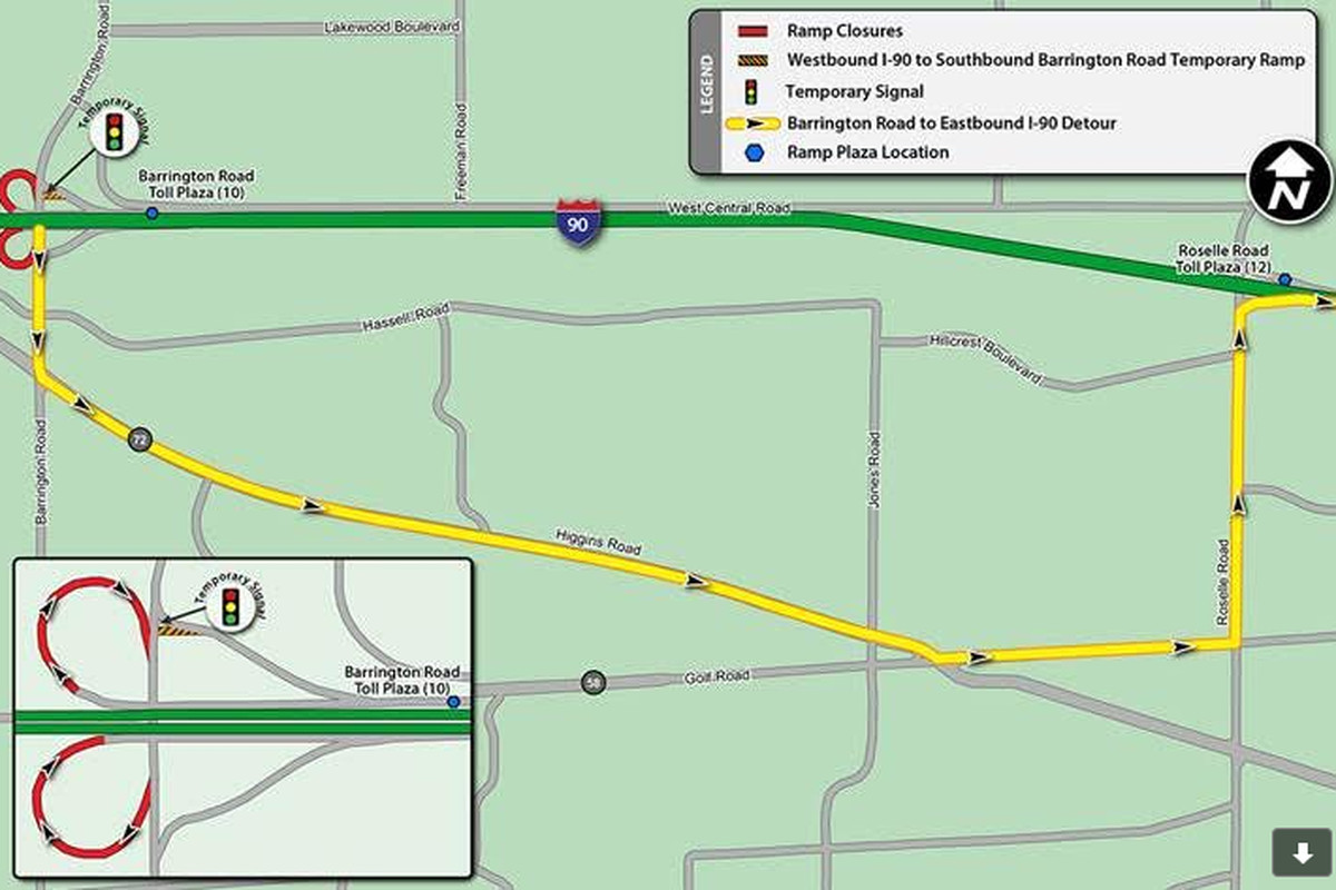 Construction closes ramps to I-90 in Hoffman Estates - Chicago Sun-Times