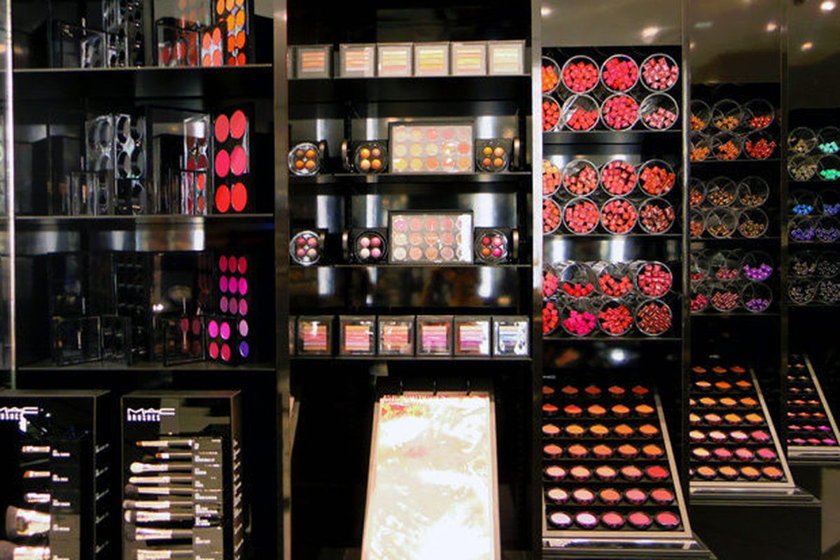 """MAC Cosmetics's <a href=""""http://la.racked.com/2014/9/12/7577199/mac-beverly-blvd#4394858"""">N. Beverly Drive</a> boutique."""