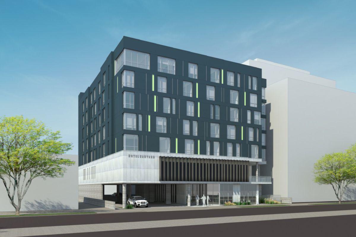 Rendering of hotel
