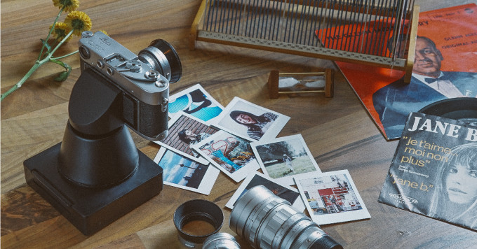 photo image This giant case transforms a 35mm camera into an instant camera