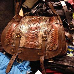 Abaco python and leather bag, $480 (originally $1,195)