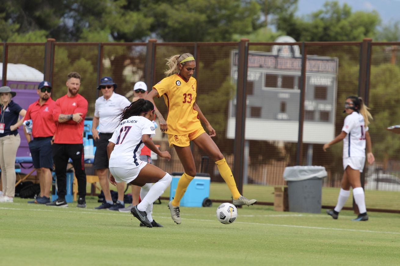 arizona-wildcats-soccer-usc-trojans-2021-recap-pac12-jada-talley-return