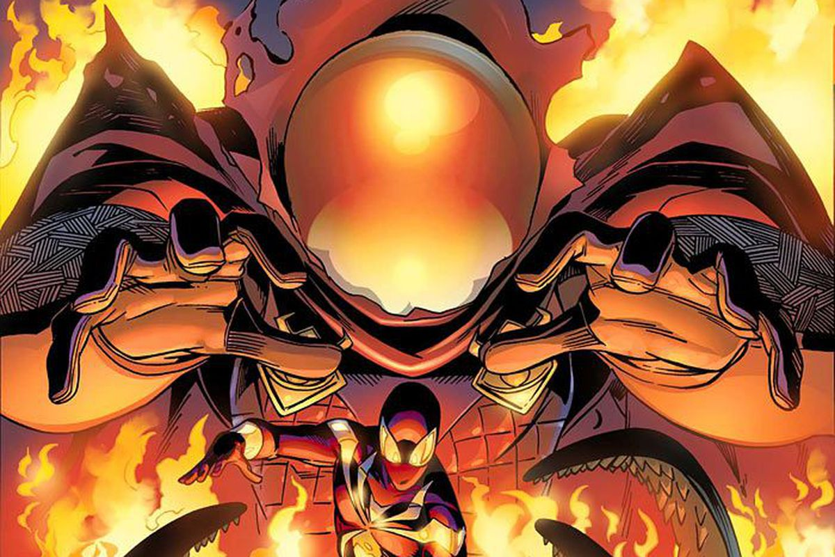 Mysterio and Spider-Man on the cover of Friendly Neighborhood Spider-Man #13, Marvel Comics (2006).
