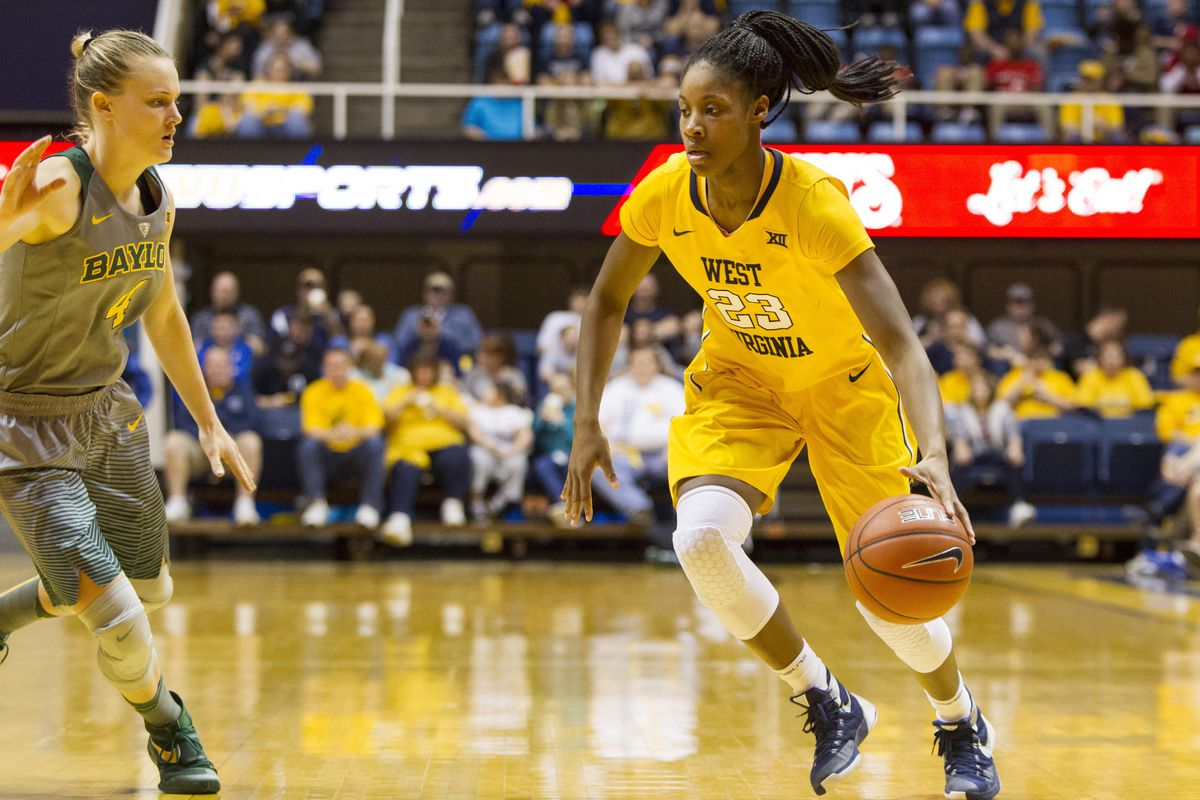 Bria Holmes, drafted by the Atlanta Dream in the first round of the 2016 WNBA Draft, led WVU to a 25-10 season in 2015-2016.