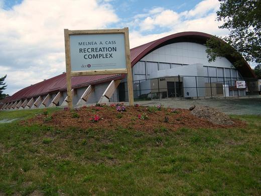 The exterior of a recreational center.