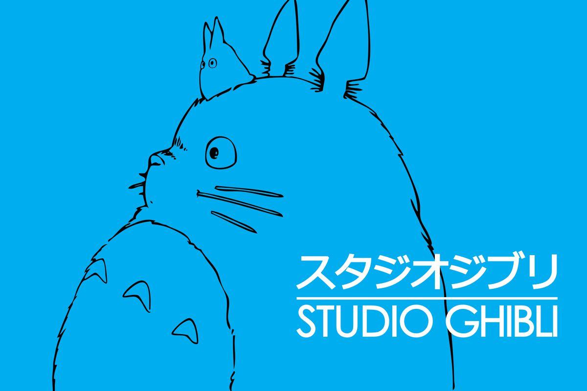 studio ghibli logo with totoro