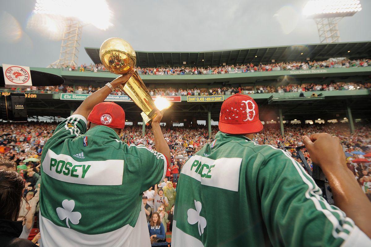 Boston Celtics Honored At Fenway Park