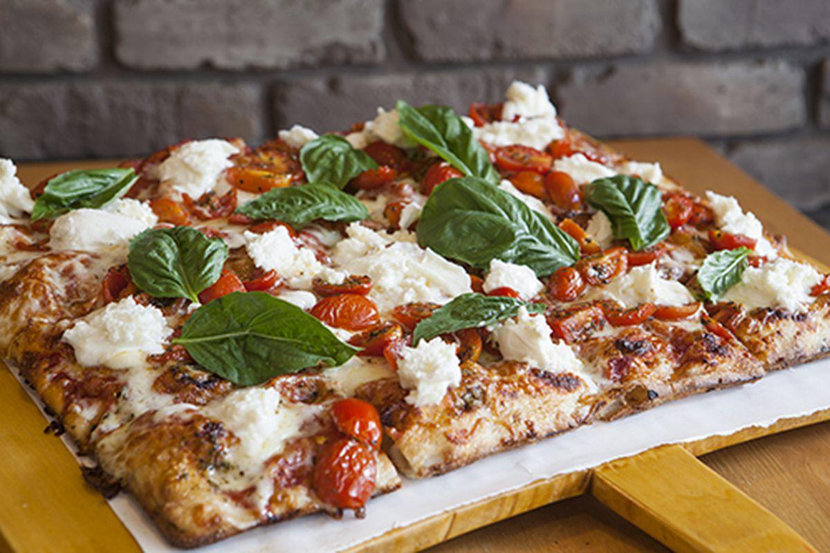 A slice of Roman pizza from Vivi