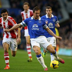 Jagielka had the captain's armband by the end of David Moyes' tenure in 2012-13