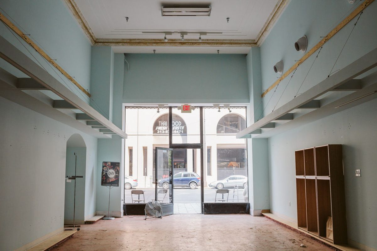 Main floor, looking out at Second Street.