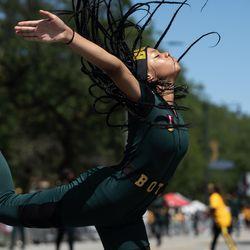 Maya Joy performs during the Bud Billiken Parade Saturday.