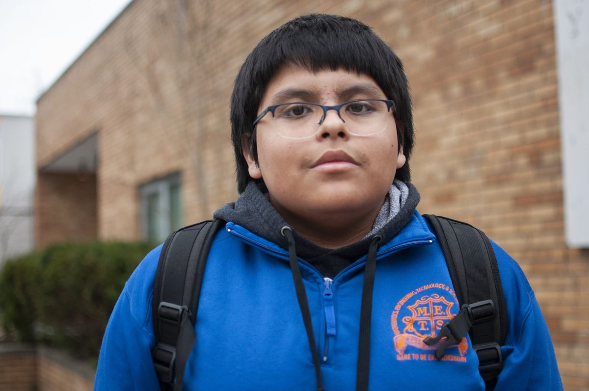 """""""It's definitely improved — but it's not enough,"""" said Bryan Romero, an 11th-grader at M.E.T.S. Charter School in Newark."""