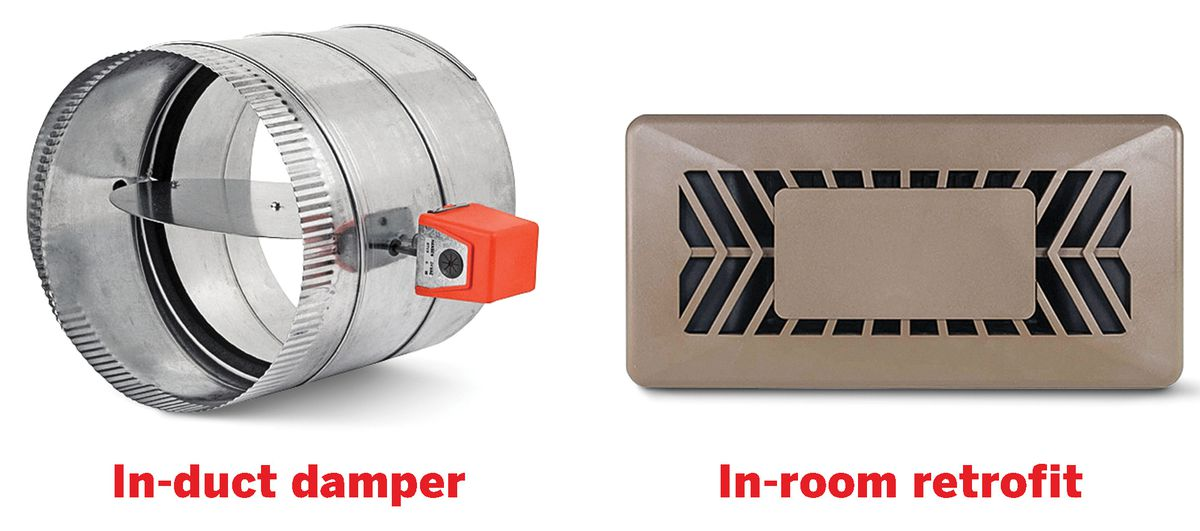 Zoned Systems: In Duct Damper And In Room Retrofit