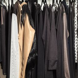 Collection hangs on the  racks in HOLLIMAN studio