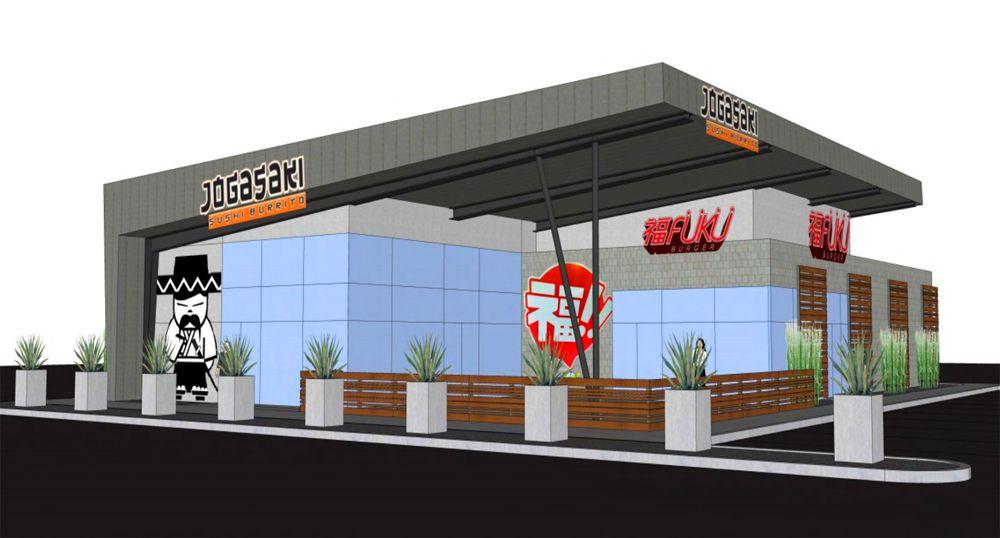 Rendering Fukuburger at Buffalo & Warm Springs retail center