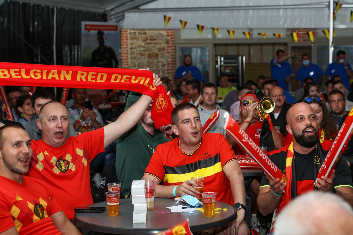 SOCCER SUPPORTERS TEST EVENT RED DEVILS FRIENDLY BELGIUM VS GREE