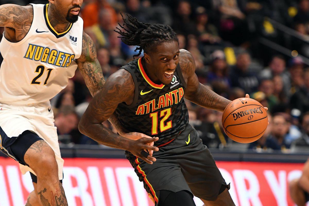 Denver Nuggets versus the Atlanta Hawks