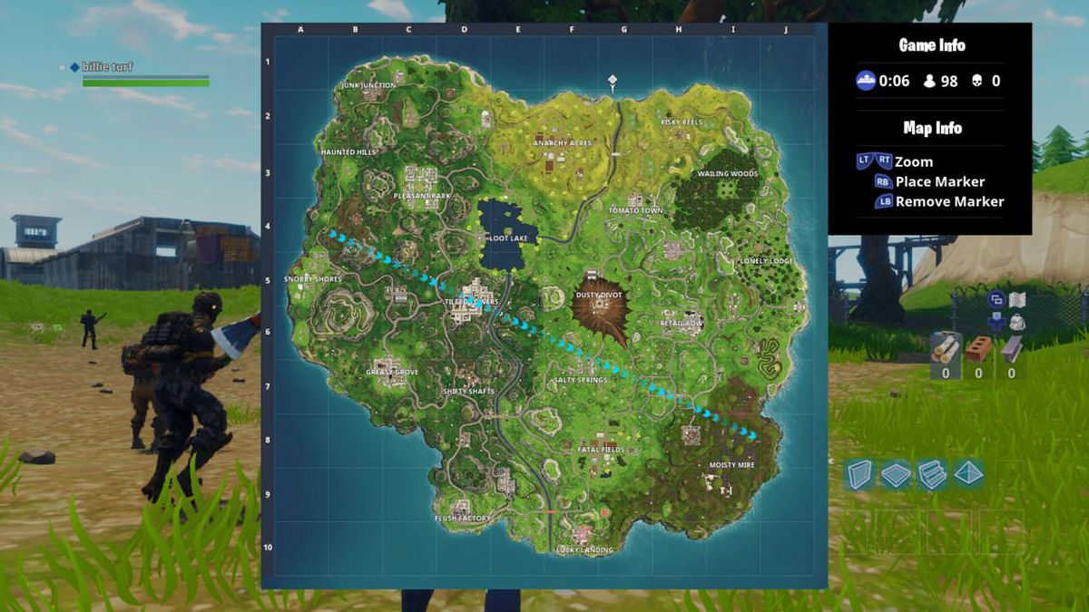 Fortnite Battle Royale season 4 map screenshot