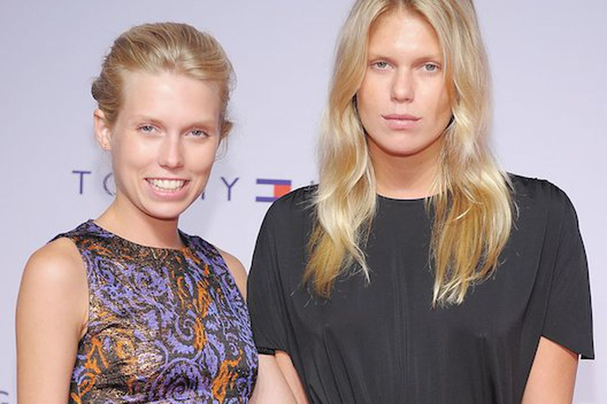 Theodora Richards, left, with her sister Alexandra. Photo credit: Getty Images
