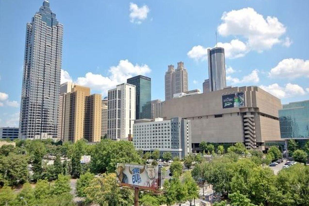 The view from a downtown atlanta condo for sale.
