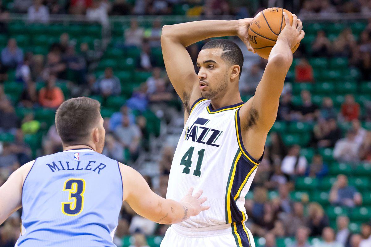 2641dc4488b Utah Jazz rookie Trey Lyles needs to take advantage of Trevor Booker s  suspension - Downbeat 1758