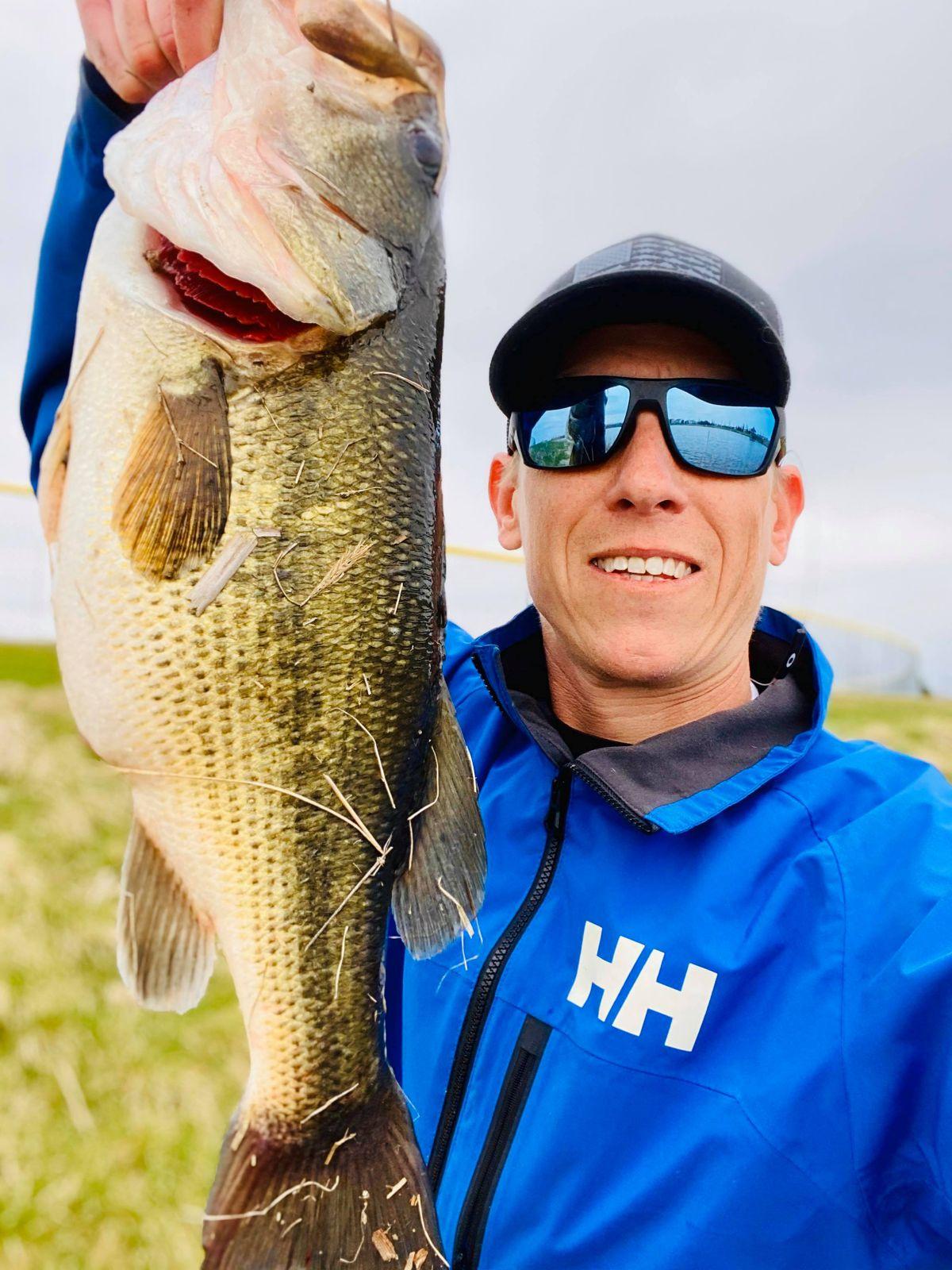Matt Bach and a big hunking bass. Provided photo