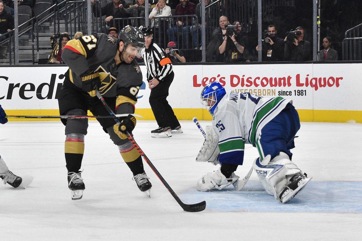 Vancouver Canucks v Vegas Golden Knights