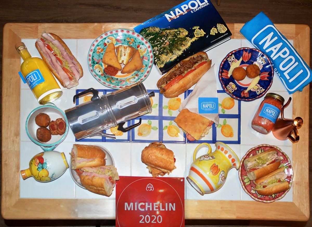 Napoli Salumeria sells sandwiches, street snacks, and plateware