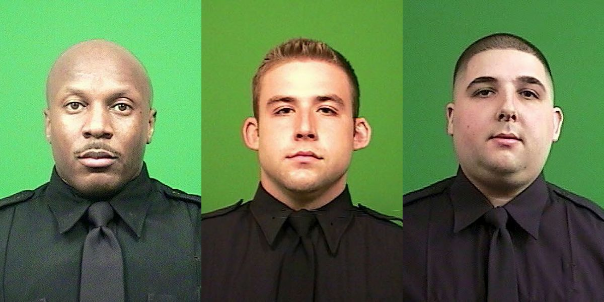 (From Left) Police Officer Vaughan Ettienne, Ryan Galvin and Mark Xylas.