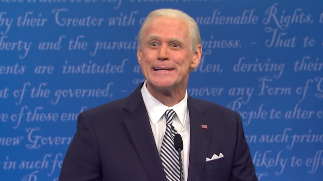 Jim Carrey as Joe Biden on the SNL debate sketc