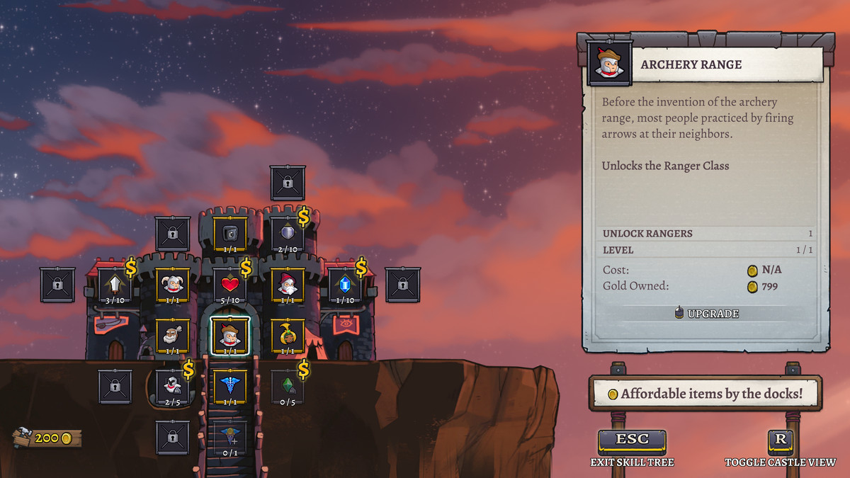 The castle screen in Rogue Legacy 2