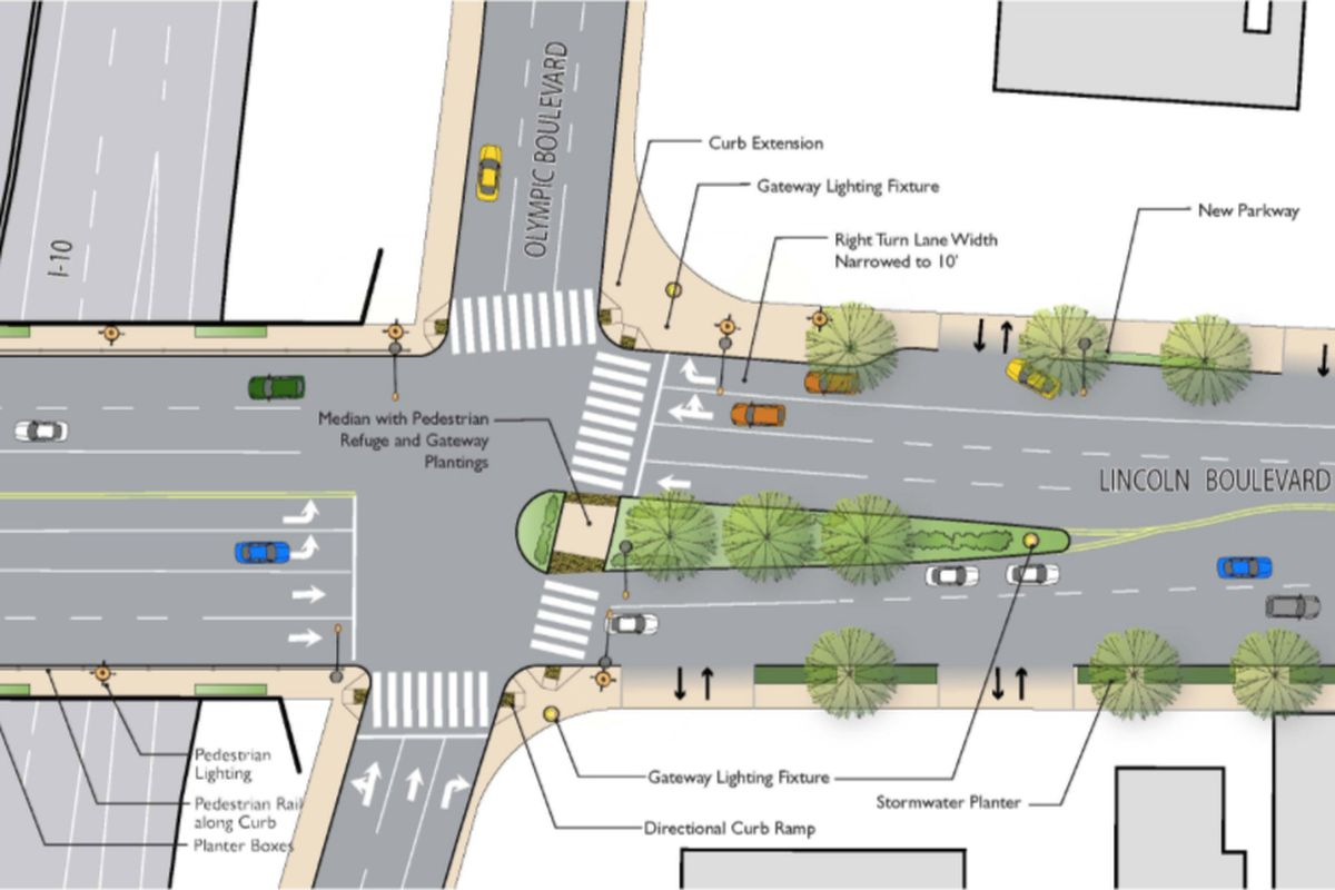 Santa Monica Approves Pedestrian Friendly Makeover For