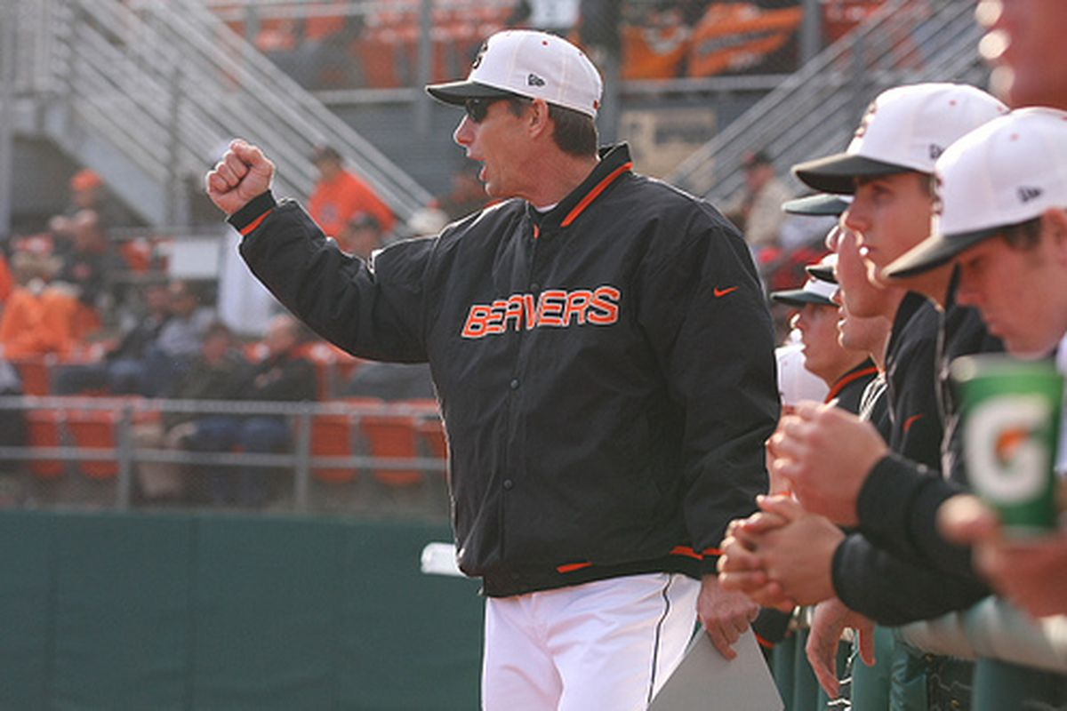 Pat Casey's Beavers haven't lost yet, and aren't planning to start now. (Photo by Jake Bertalotto)