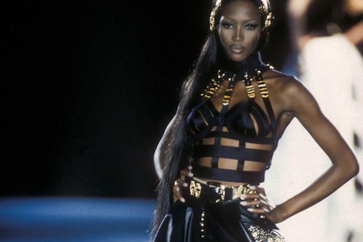 """Gianni Versace leather evening dress, Autumn/Winter 1992. Photo courtesy Fashion Group Foundation"