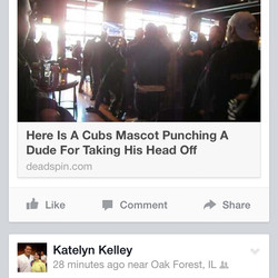 Cubs news in my Facebook Feed