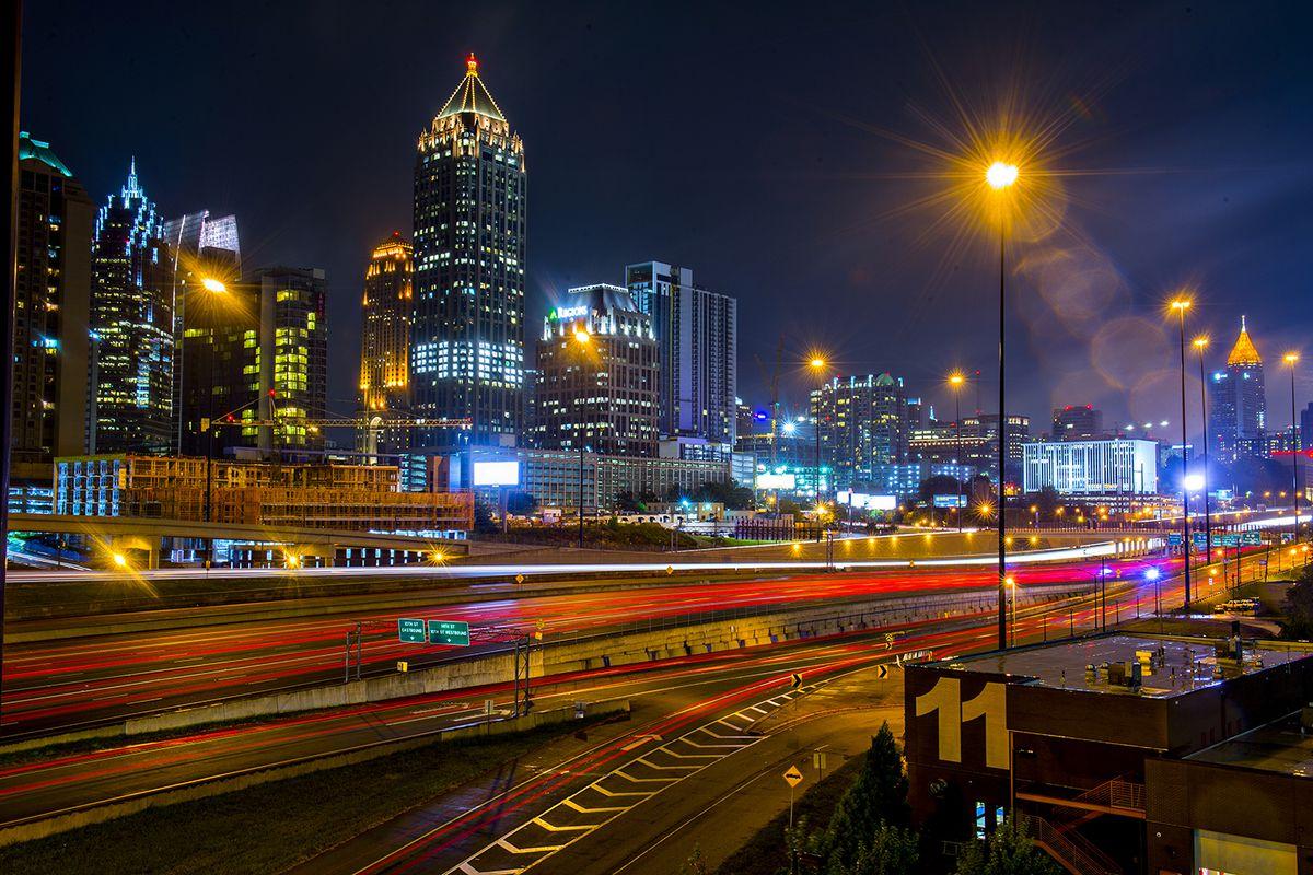 Midtown skyline at night, Atlanta