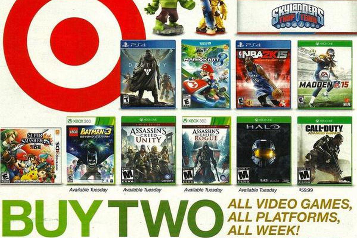 report target best buy kick off big video game sales nov 9 - After Christmas Sales Best Buy