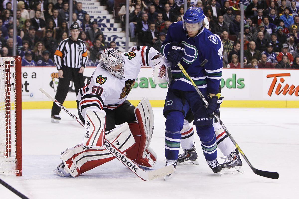 Chicago Blackhawks v Vancouver Canucks