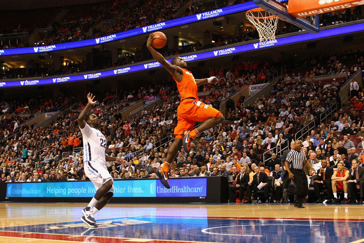 Fly, Dion, fly. (Photo by Chris Chambers/Getty Images)