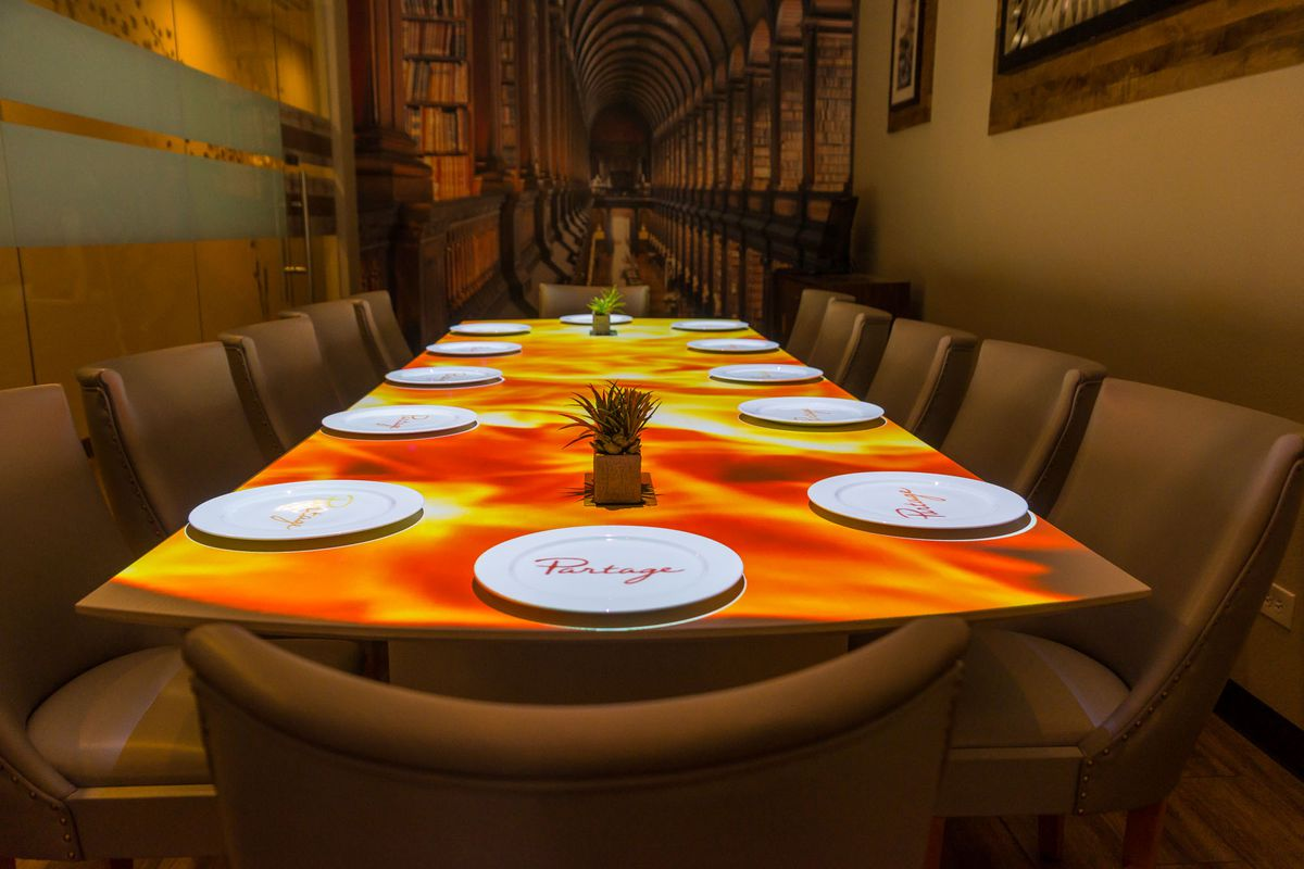 The private dining room at Partage