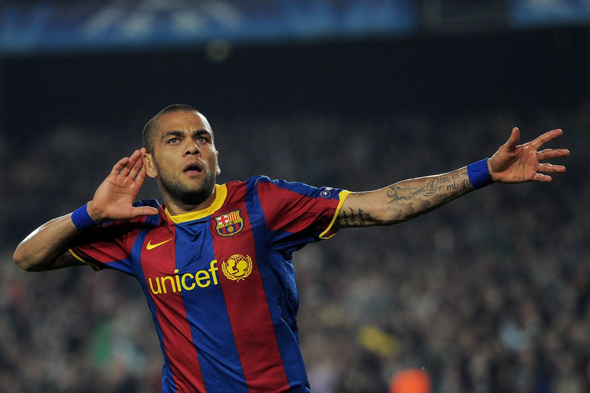 Alves is clearly copying the English Ashes team!