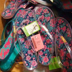 Jelly flip flops, $10.