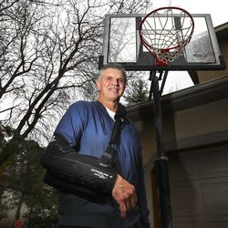 Former University of Utah basketball great Danny Vranes at his home in Cottonwood Heights on Thursday, March 19, 2020. Vranes was denied a chance to compete in the 1980 Sumer Olympic Games due to the boycott by the U.S. Olympic Team.