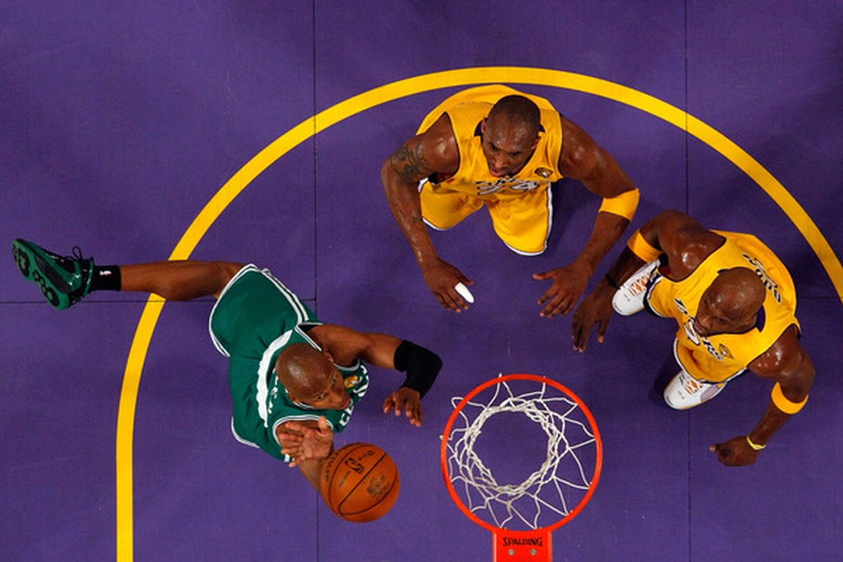 This was probably a blown layup, but it looks kind of like a rebound.