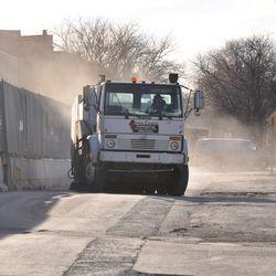 Street sweeper  on Waveland -