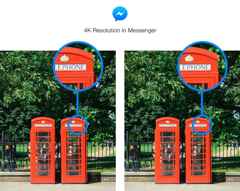 Facebook Messenger's new higher resolution