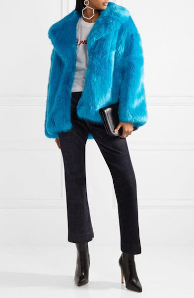 Diane von Furstenberg Oversized Faux Fur Coat, $600