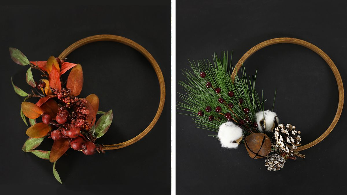 Diy Embroidery Hoop Wreath This Old House