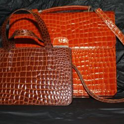 Despite their looks, no crocodiles were harmed in the making of these bags.
